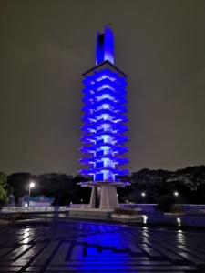 オリンピック記念塔ライトアップ